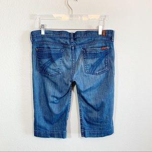 7 for all mankind Dojo jean shorts Bermuda length